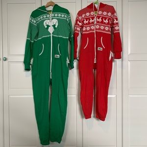Tipsy Elves Christmas onesies for him and her